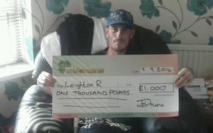 Leighton R won £ 1,000