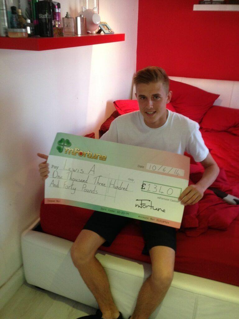 Lewis A won £ 1,340