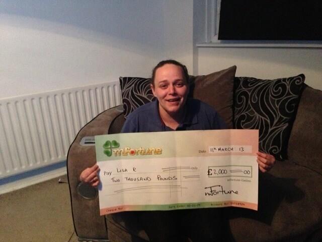 Lisa R won £ 2,000