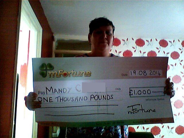 Mandy C won £ 1,000