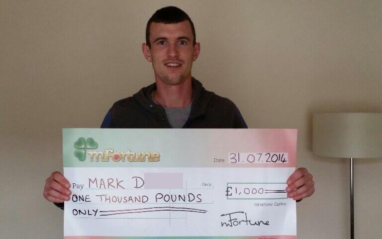 Mark D won £ 1,000