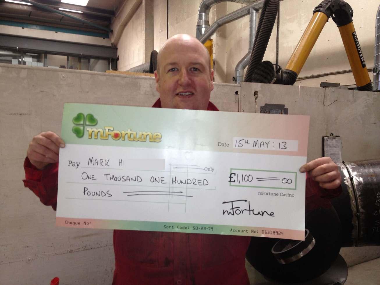 Mark H won £ 1,100