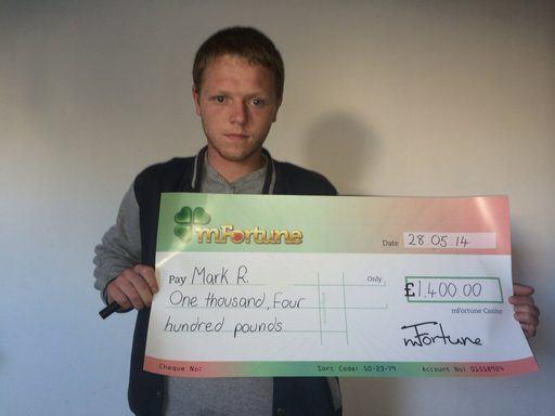 Mark R won £ 1,400