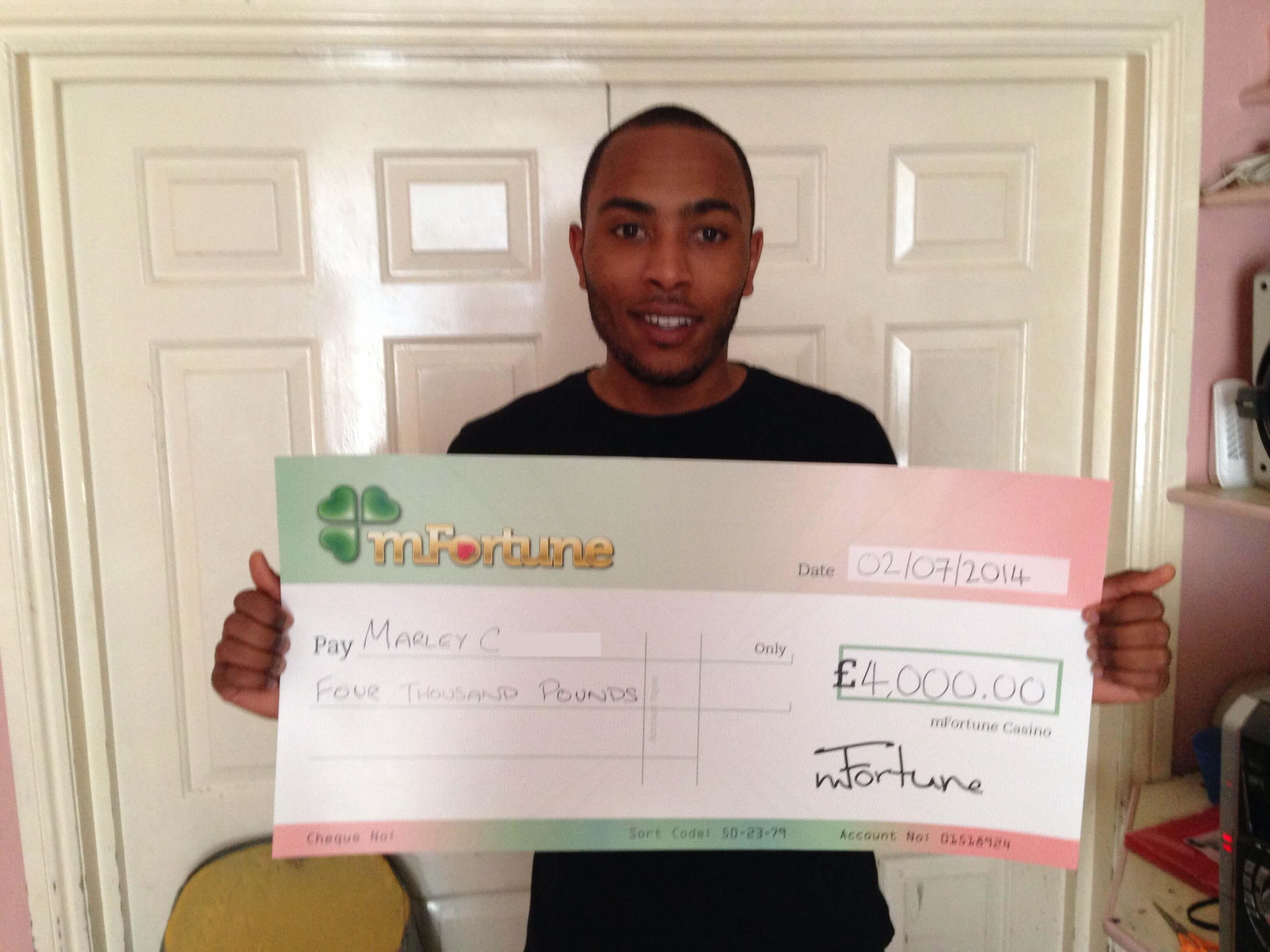 Marley C won £ 4,000