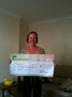 Melanie K won £ 1,110