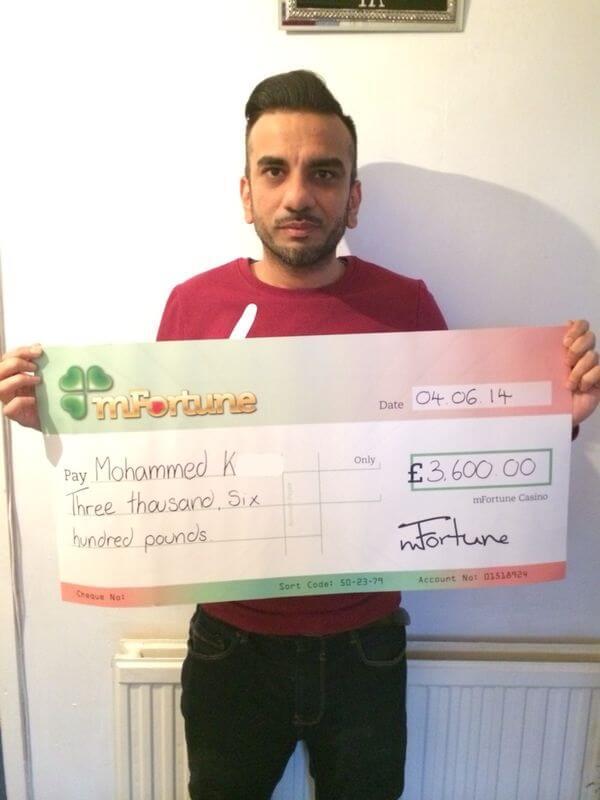 Mohammed K won £ 3,600