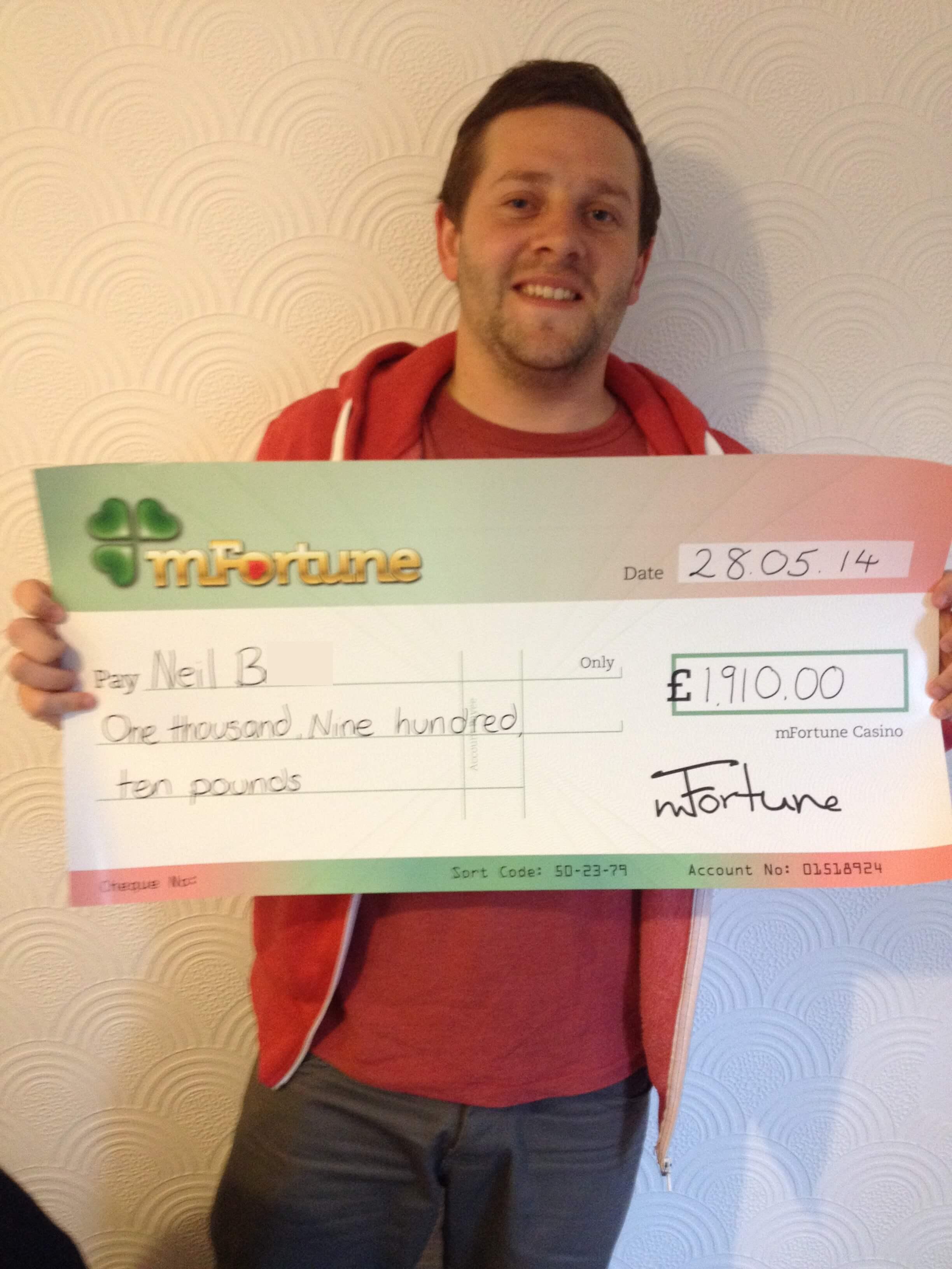 Neil B won £ 1,910