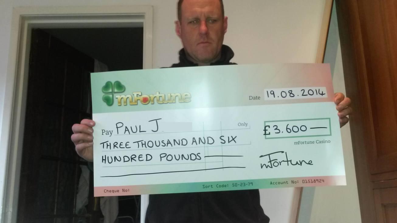 Paul J won £ 3,600