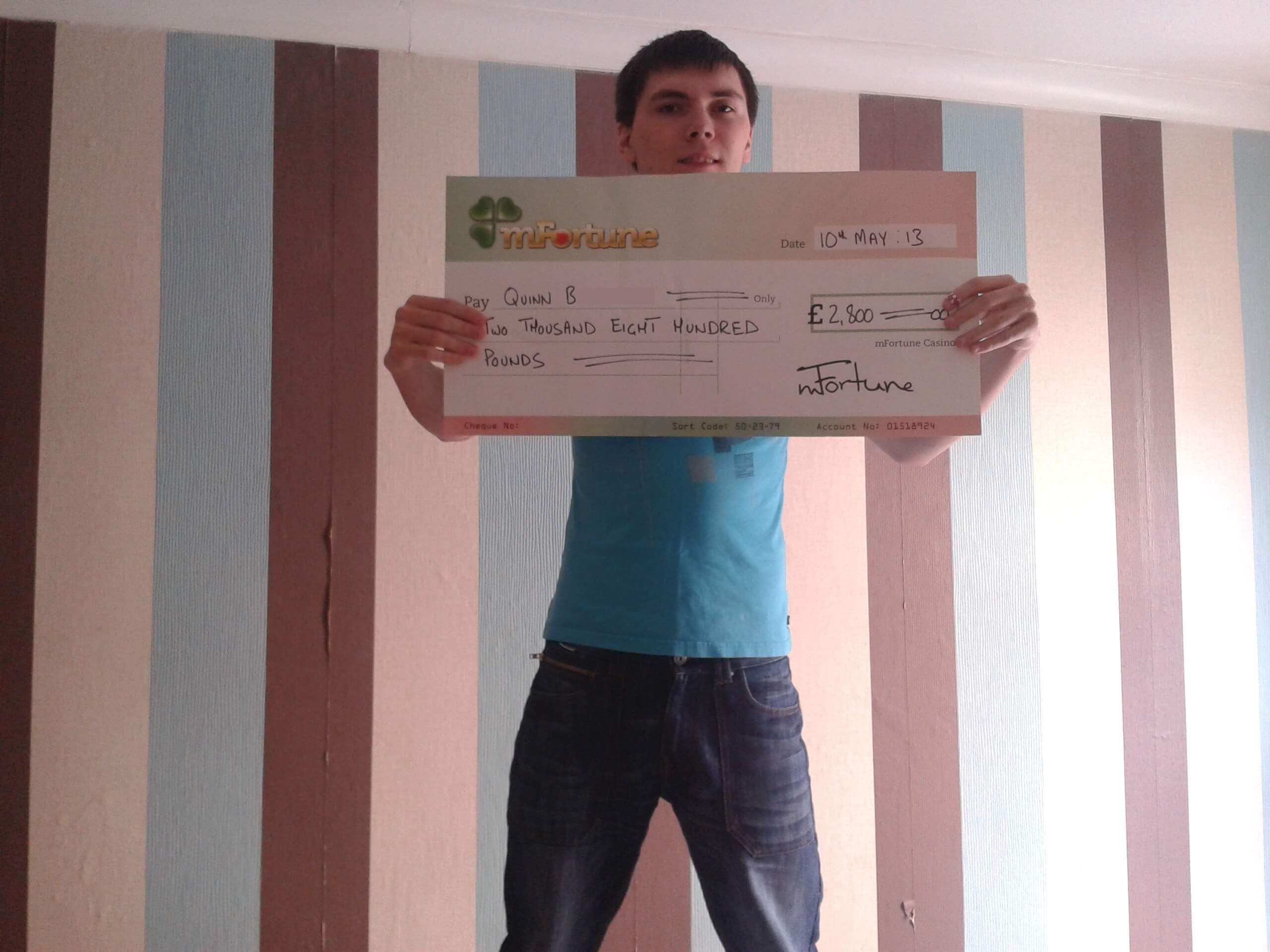 Quinn B won £ 2,800