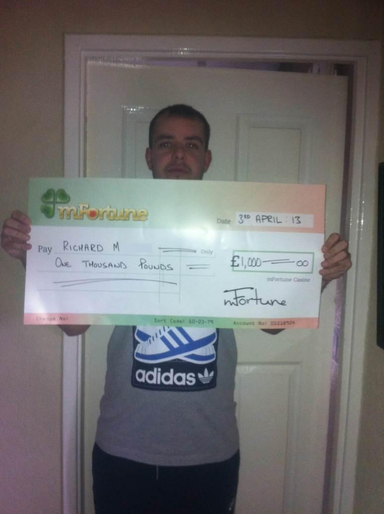 Richard M won £ 1,000