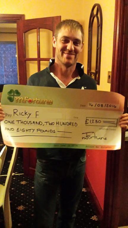 Ricky F won £ 1,280