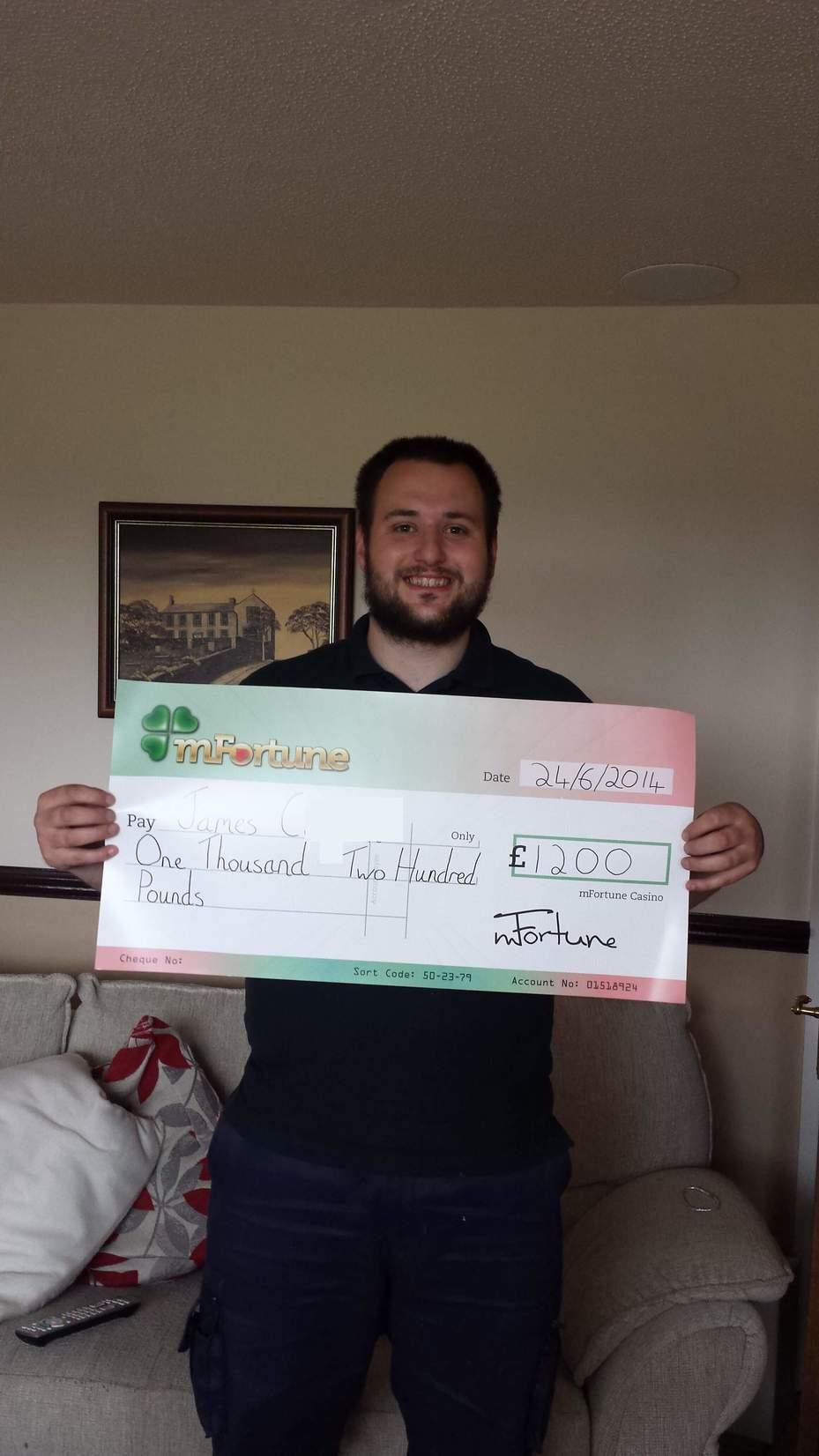 James C won £ 1,200