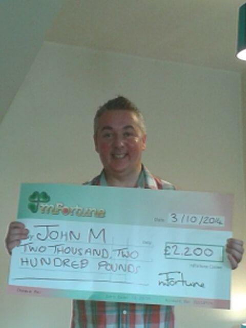 John M won £ 2,200