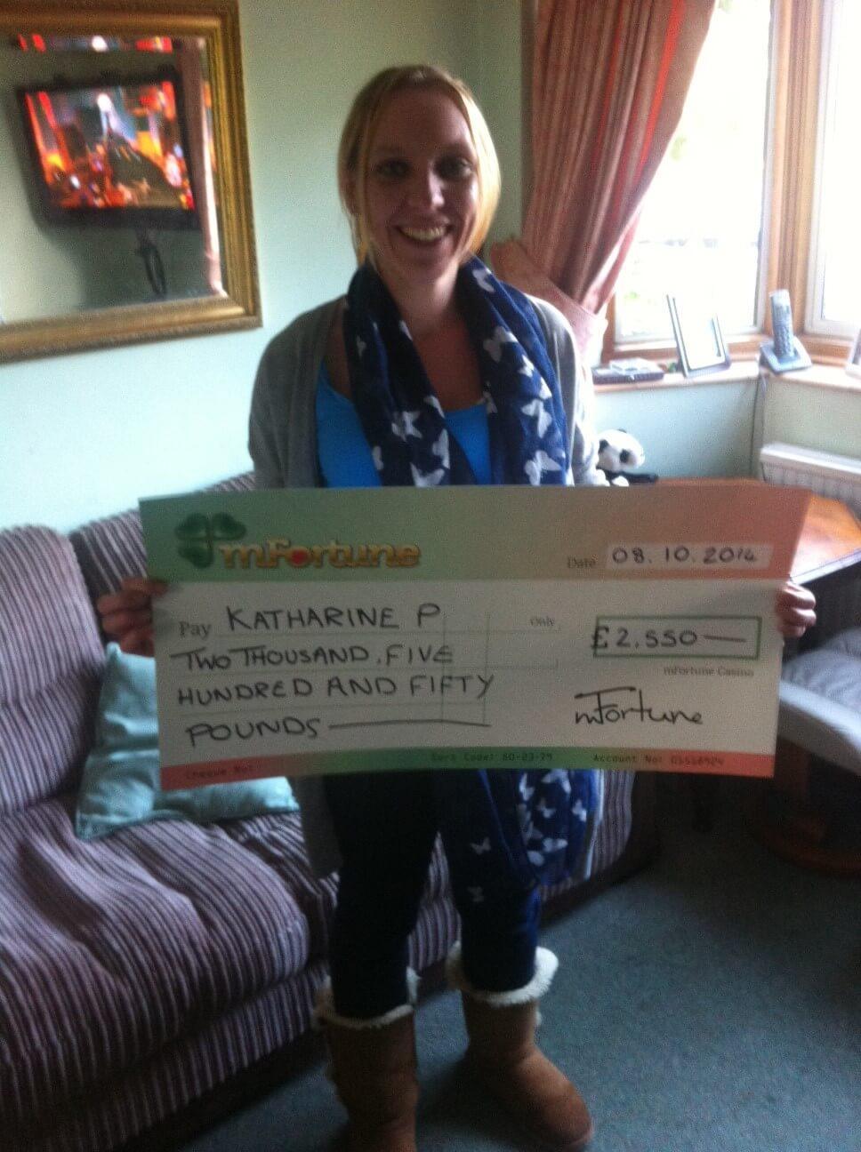 Katharine P won £ 2,550