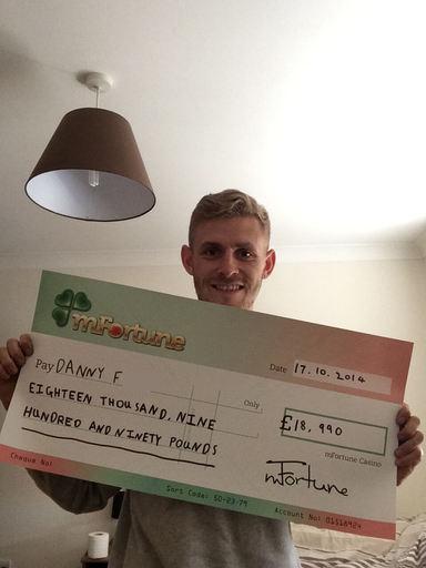 Danny F won £ 18,990
