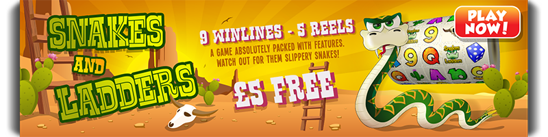 mFortune Snakes and Ladders: 9 winlines 5 reels. Watch out for them slippery snakes!
