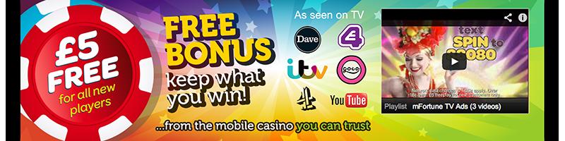 £5 Free! Free bonus, keep what you win!